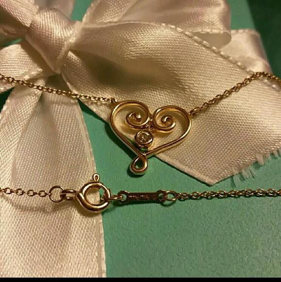 Tiffany & Co. Jewelry - Tiffany & Co. Diamond 18k Gold Necklace